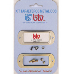 KIT TARJETERO METALICO