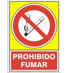 CARTEL PROHIBIDO FUMAR 400 34X24 cm