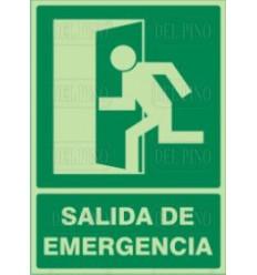 CARTEL SALIDA EMERGEN.LU 29X21