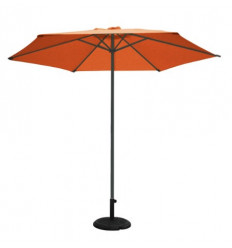 PARASOL ALUMINIO 3M Ø COLOR ANTRACITA/TERRACOTA