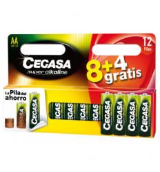 PILA CEGASA ALK LR6 AA 8+4GRATIS