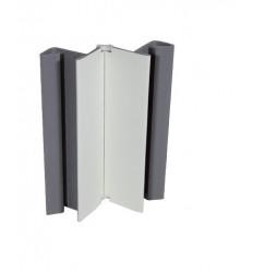ANGULO VARIABLE ZOCALO 15CM PVC BLANCO