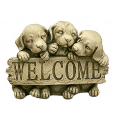 FIGURA ANIMALES WELCOME PERROS